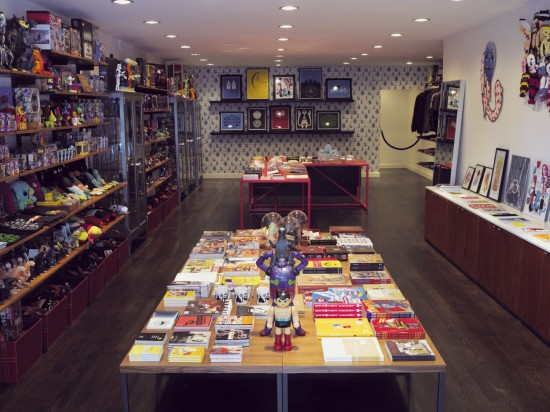 Super7 store in San Francisco, collecting toys