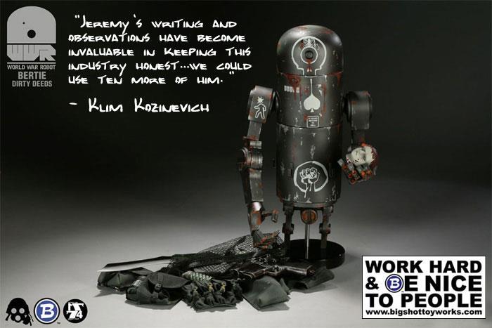 praise for Jeremy Brautman from Bigshot Toyworks