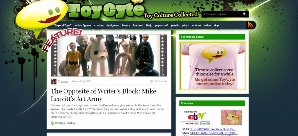 ToyCyte Front Page