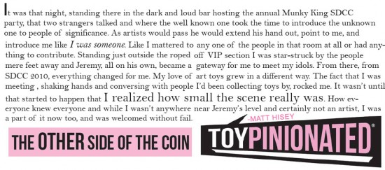 praise for Jeremy Brautman from Toypinonated!