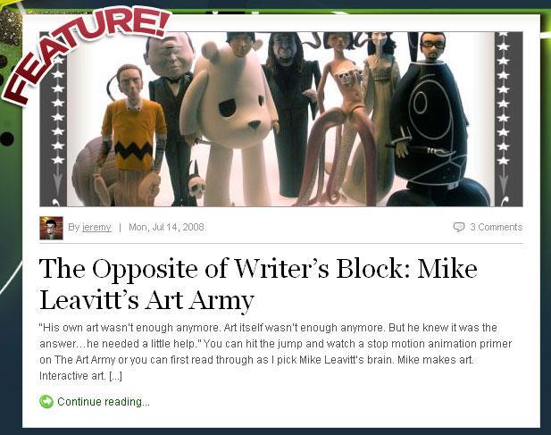 interview with Mike Leavitt artist