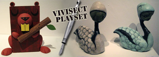 The Vivisect Playset Series 5 Art Show