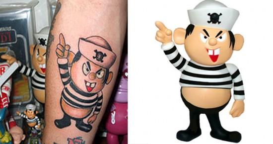 Tattoos inspired by art: Kid Hunter by Bounty Hunter.