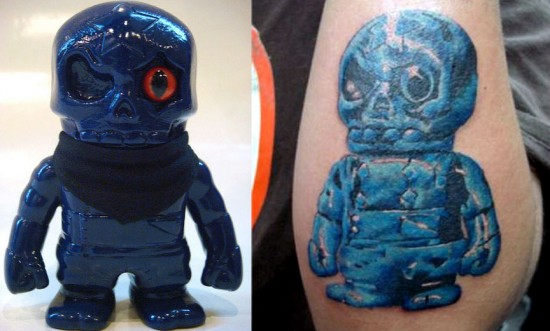 Tattoos inspired by art: Ryusei Nnja Ichibanboshi by Secret Base. Flesh canvas by Frankie.