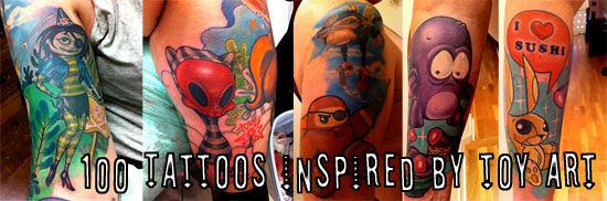 100 Tattoos Inspired by Toy Art