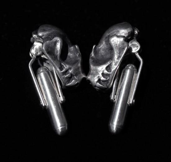 Bat Skull Cuff Links by Miyu Decay / Stephanie Inagaki