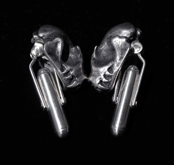 Bat Skull Cuff Links by Miyu Decay/Stephanie Inagaki