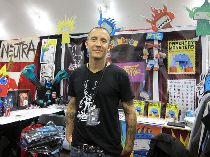 Brian Castleforte Paper Toy Monsters at DesignerCon