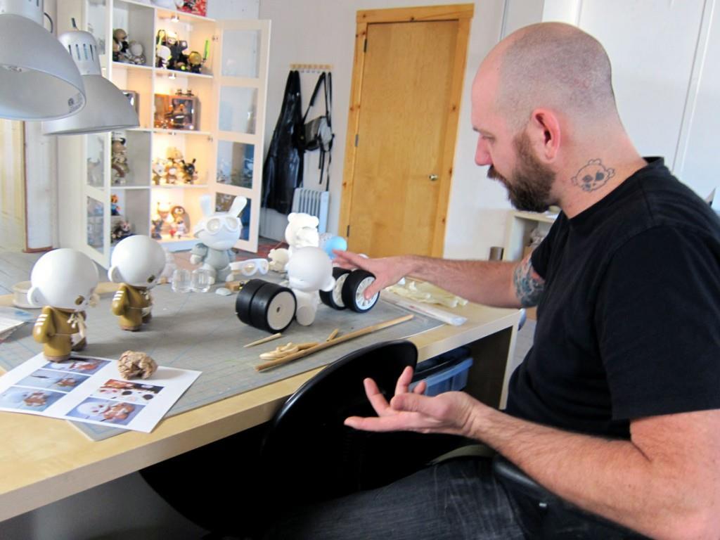 Huck Gee studio visit
