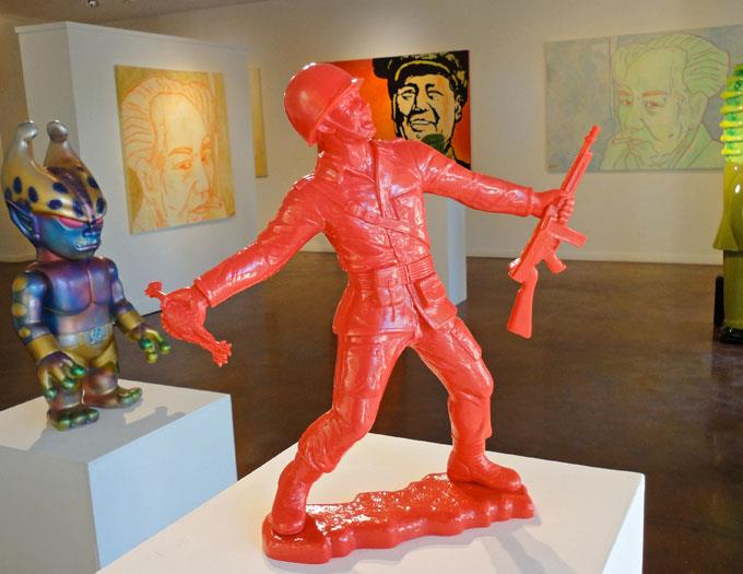 Frank Kozik's Golden Mao at Squeeze Gallery