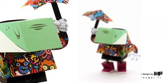 SKWAK papertoy for Dandy Frog