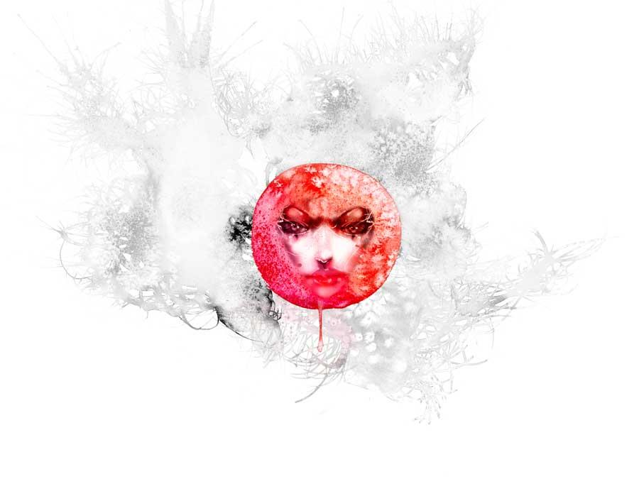 Red Moon by David Choe