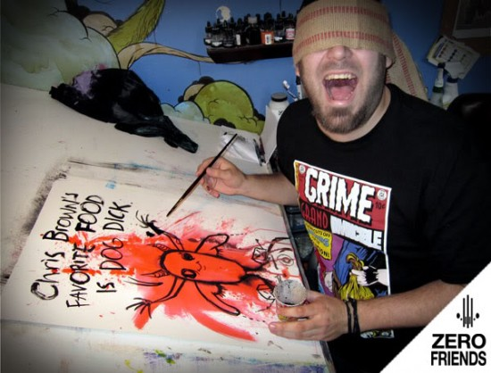 Alex Pardee on Chris Brown