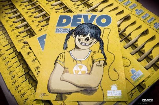 Zoltron x Devo posters