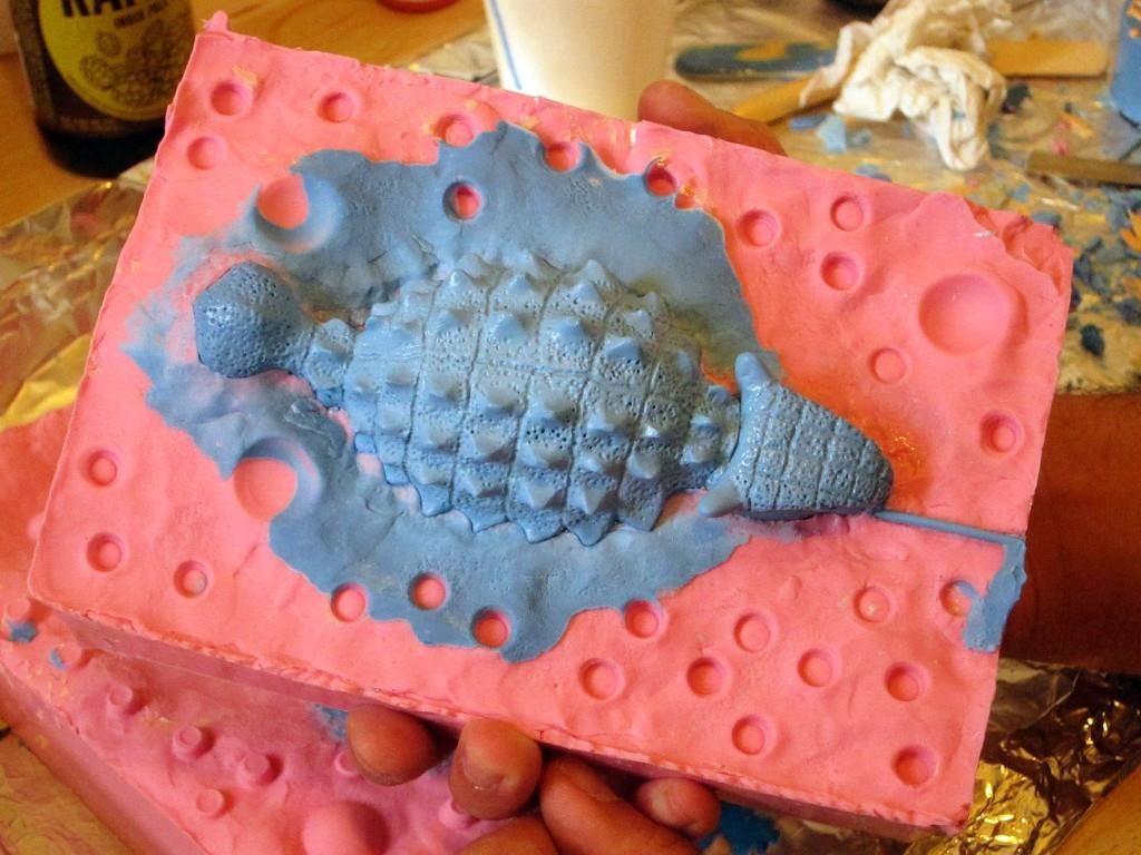 Making resin dinosaurs with Dustin Cantrell