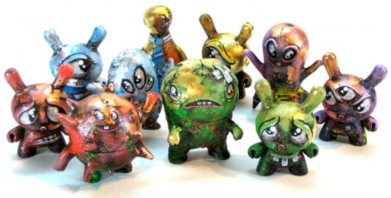 Ghostland (Super7) vs Dunny (Kidrobot) customs by Leecifer