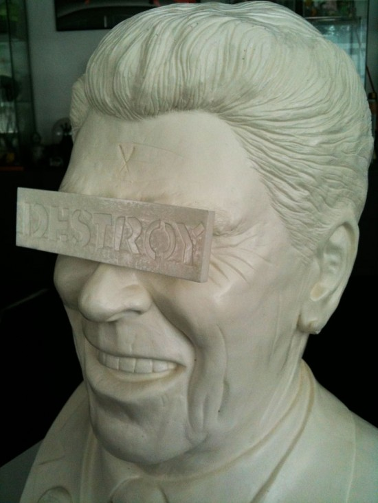 Frank Kozik's The Gipper Ronald Reagan Bust