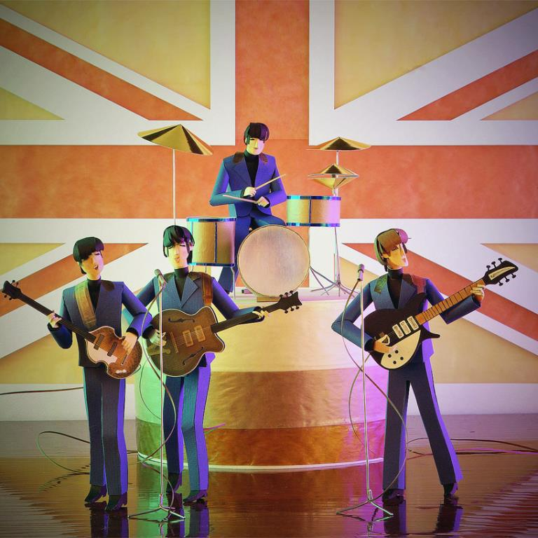 The Beatles pop culture papercraft by People Too