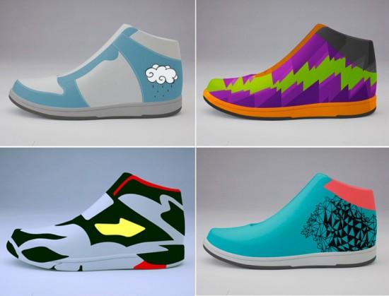 Kickstarter vinyl toys: Stance sneakers