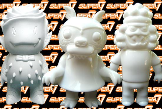 Super7 SDCC Monster Family blank toys