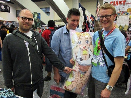Anime Body Pillow at Wondercon 2011