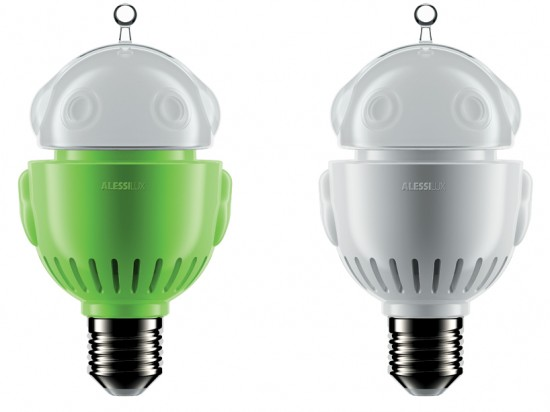 Alessilux Light Bulbs are Cute Robots