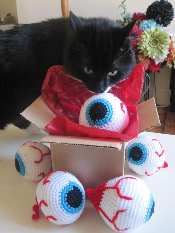 Eyeball Cat Toys by Godmachine