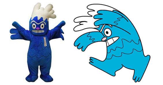 Tsunami-man Tsunami Plush Mascot