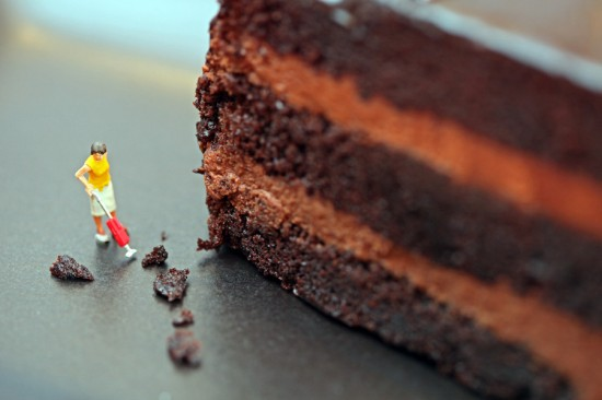Chocolate Crumb Cleanup by Christopher Boffoli