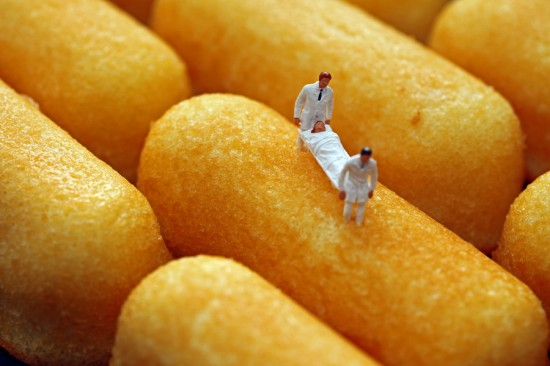 Twinkie Field Casualty by Christopher Boffoli
