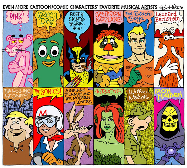 Comic Book Characters' Favorite Music by Karl Heitmueller Jr.