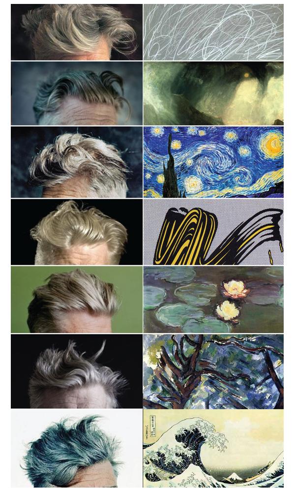 David Lynch's hair as art