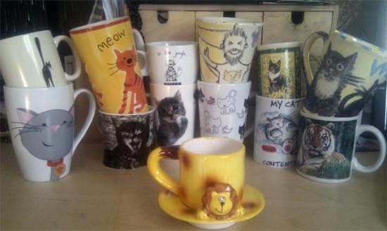 Godmachine cat mugs