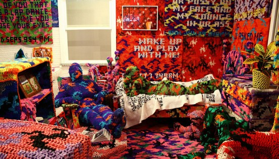 The Apartment of Olek Yarn Bomber