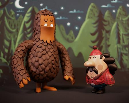 Sasquatch Toys by Invisible Creature and Super7