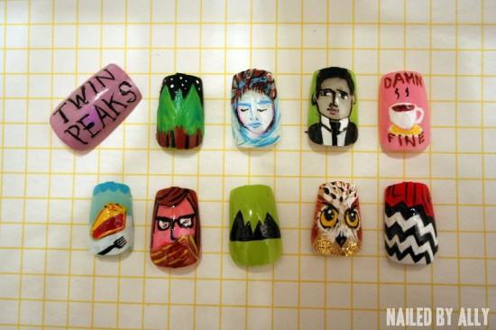 Twin Peaks Nail Art by Ally