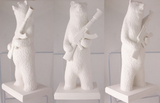 Porcelain Bear by Mike Leavitt x Klimenkoff