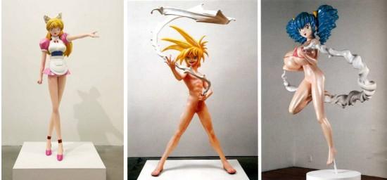 Takashi Murakami sculptures