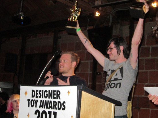 ThreeA Legion accepting Artist of the Year for Ashley Wood