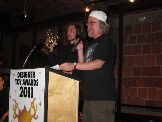 Ron English presenting the award for Toy of the Year