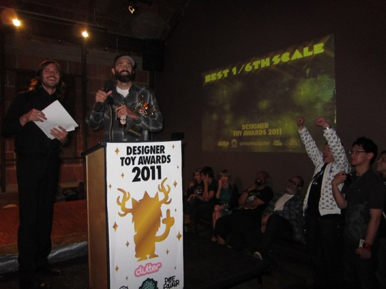 Ferg accepting his award for Best 1/6 Scale Figure