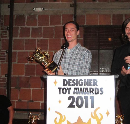Kidrobot accepting its award for Best Platform