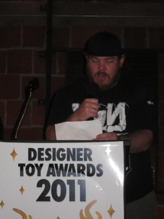 SpankyStokes presenting the award for Best Collaboration