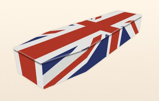British Flag Coffin by Colourful Coffins