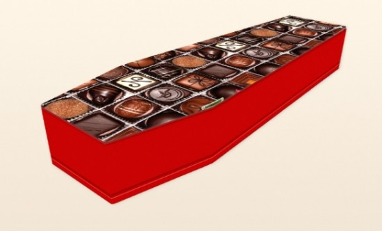 Chocoholic Coffin by Colourful Coffins