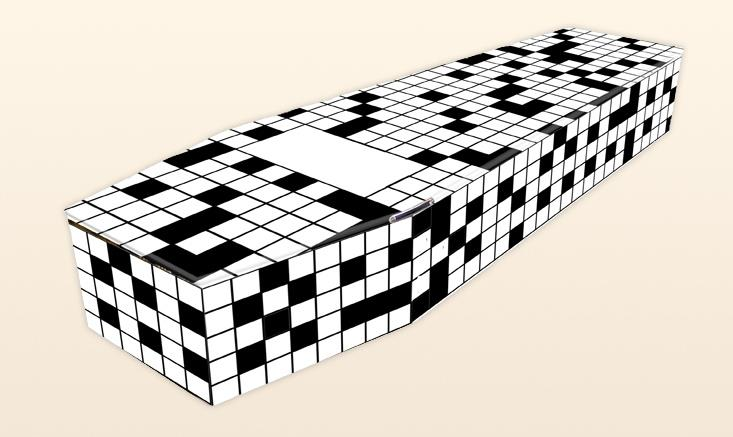 Crossword Puzzle DIY Coffins by Colourful Coffins