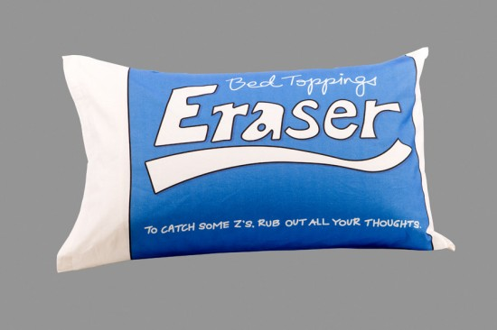 eraser pillow