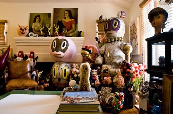 Gary Baseman's studio