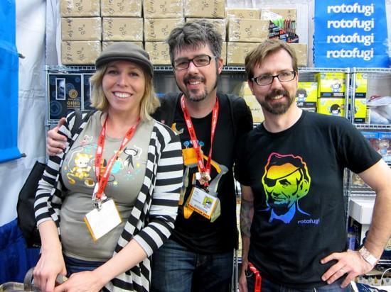 Kathie Olivas, Brandt Peters and Kirby Kerr of Rotofugi