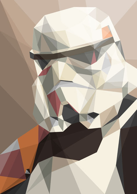 Star Wars Geometric Art Storm Trooper by Liam Brazier